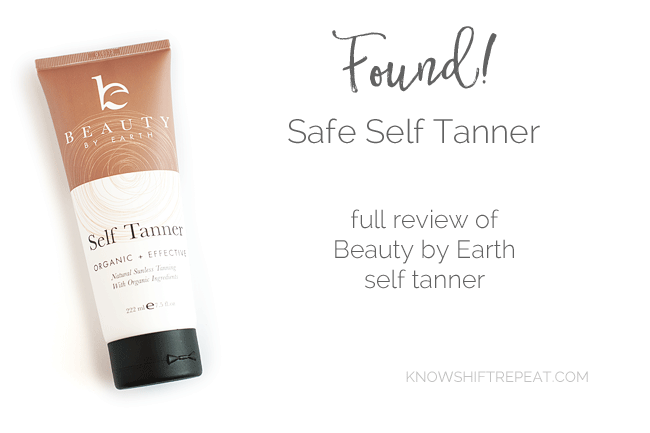 Beauty by Earth Self Tanner Review
