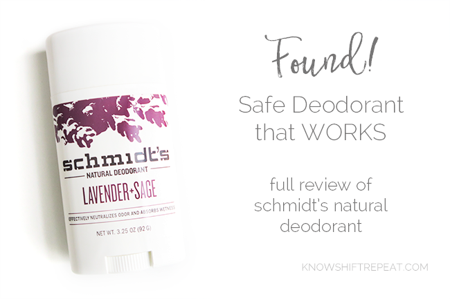 Schmidt's Natural Deodorant Review